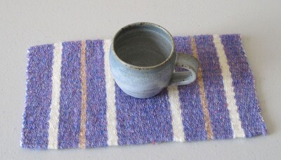 Weaving on a Frame. Project 1. Striped placemat