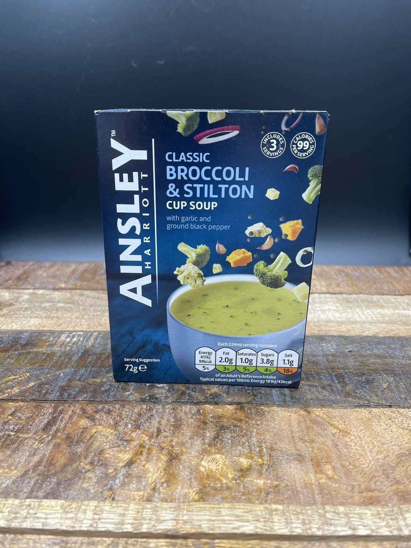 Ainsley Classic Broccoli & Stilton Cup Soup 72g