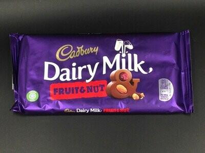 Cadbury Dairy Milk Fruit & Nut 200g