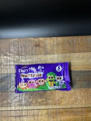 Cadbury Dairy Milk Buttons 5 Pack 70g