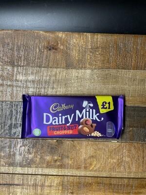 Cadbury Dairy Milk Fruit & Nut Chopped 95g