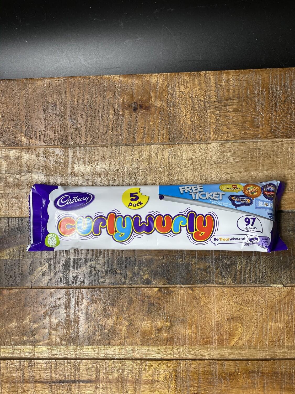 Cadbury Curlywurly 5 Pack 107.5g