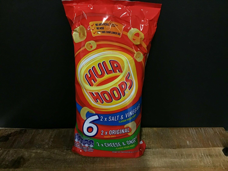 Hula Hoops Variety Pack 6 Bags 144g