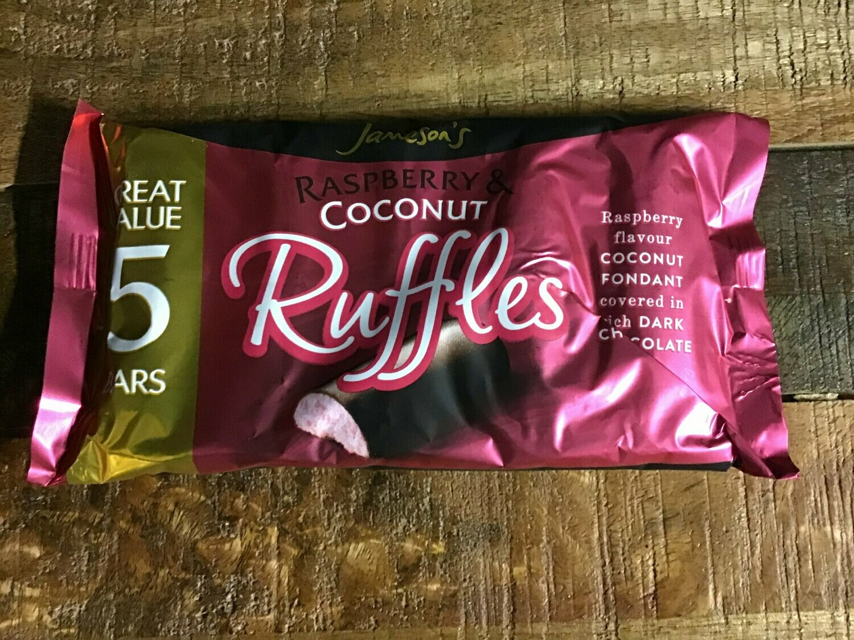 Jameson's Raspberry & Coconut Ruffles 5 Bars 130g