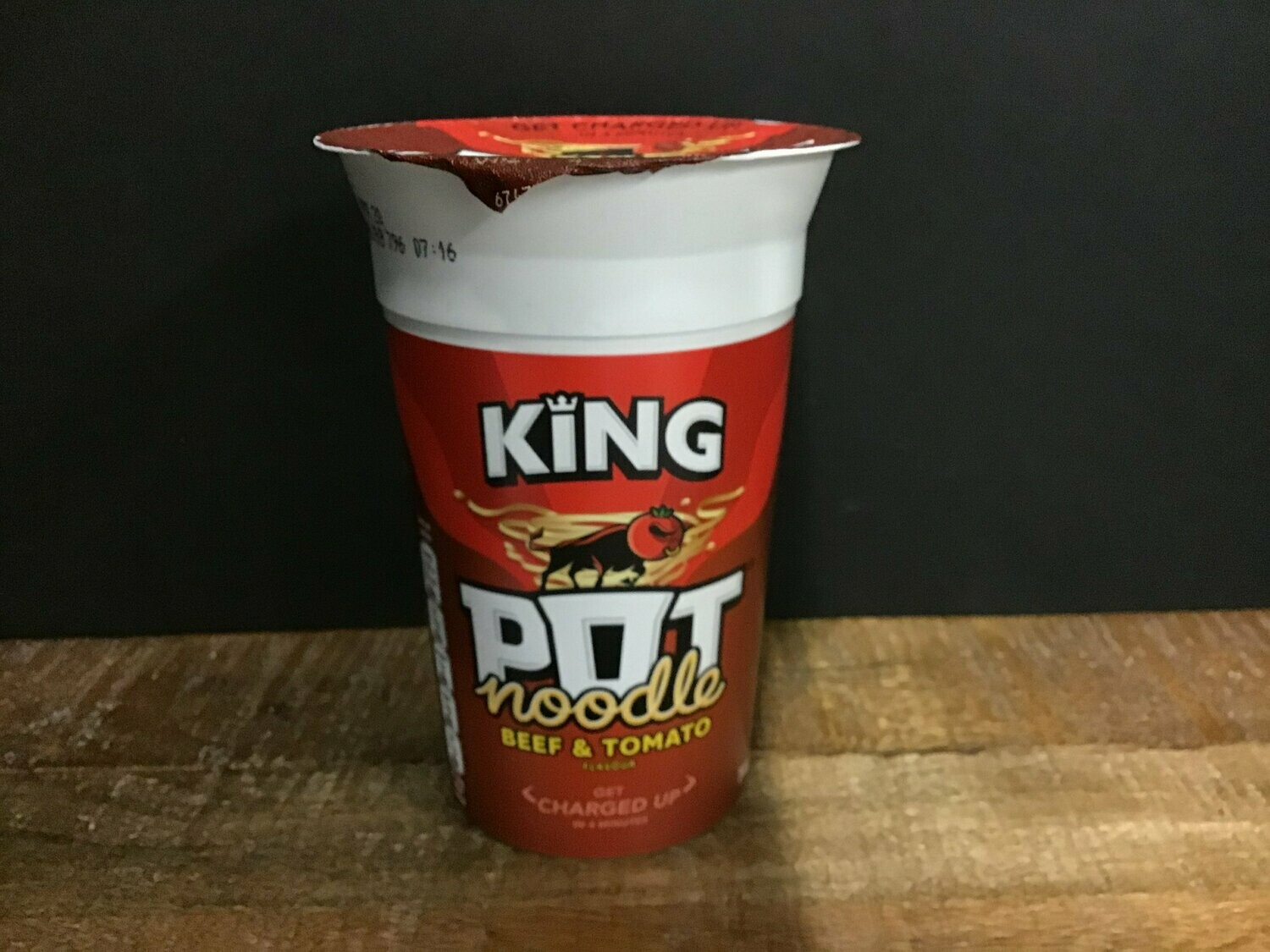 King Pot Noodle Beef & Tomato 114g