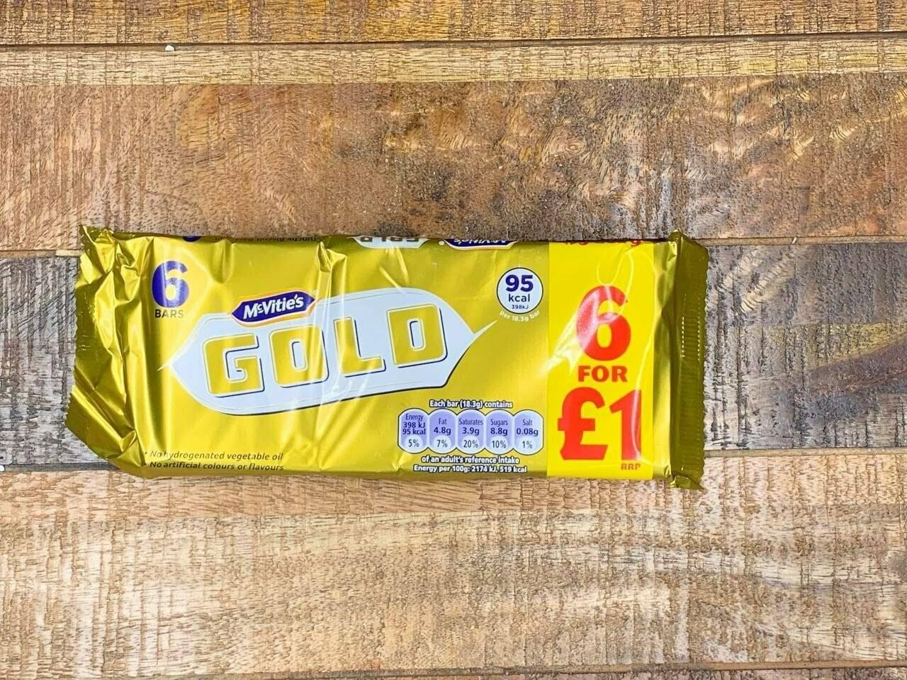 McVities Gold 6 pack 106g