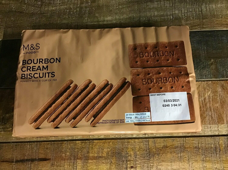 M&S Food Bourbon Cream Biscuits 400g