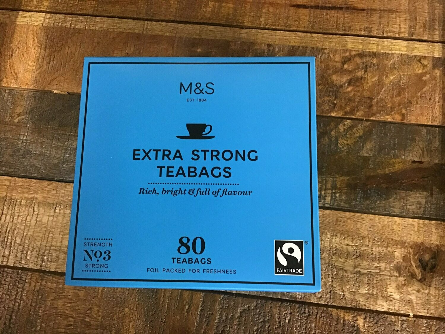 M&S Extra Strong 80 Bags 250g