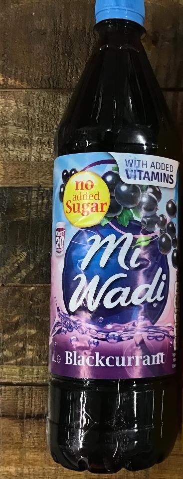 Mi Wadi No Added Sugar Blackcurrant 1000ml