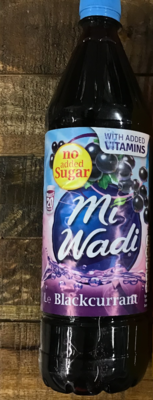 Mi Wadi No Added Sugar Blackcurrant 1000ml