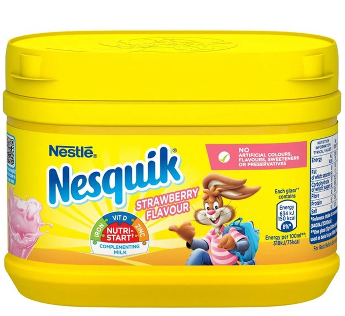 Nesquik Strawberry Flavour Milkshake Mix 300g