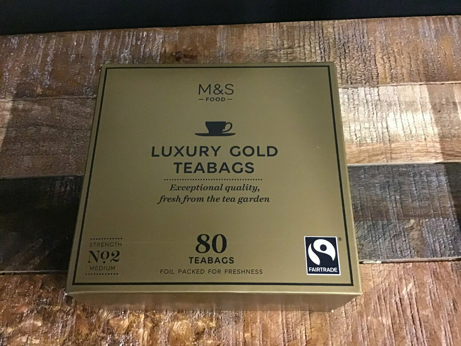 M&S Food Luxury Gold 80 Bags 250g