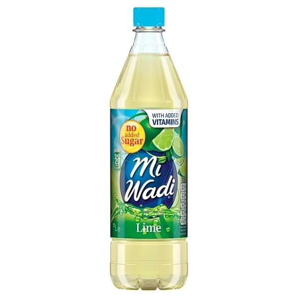 Mi Wadi No Added Sugar Lime 1000ml