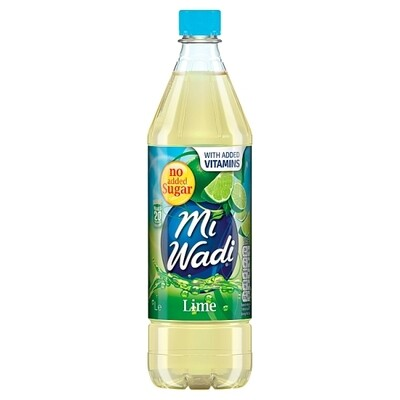 Mi Wadi No Added Sugar Lime 1000ml