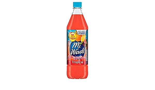 Mi Wadi No Added Sugar  Tropical 1000ml