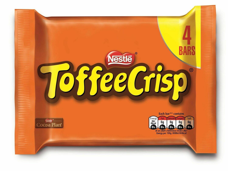 Nestle Toffee Crisp 4 Bars 124g