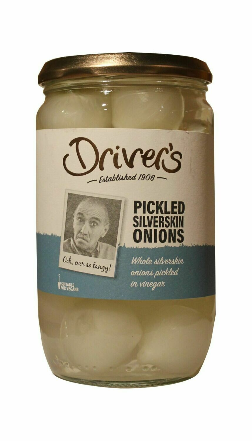 Drivers Pickled Silverskin Onions 710g
