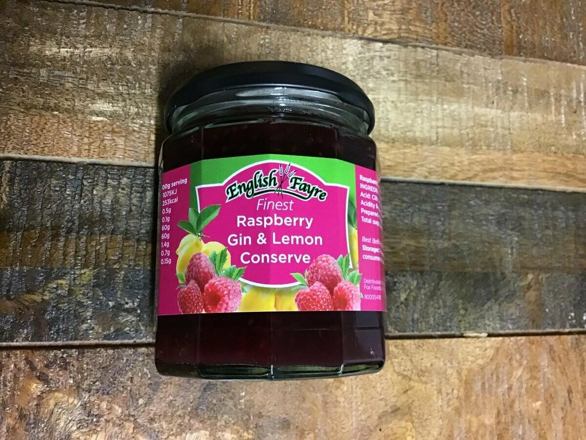 English Fayre raspberry Gin & Lemon Conserve 340g