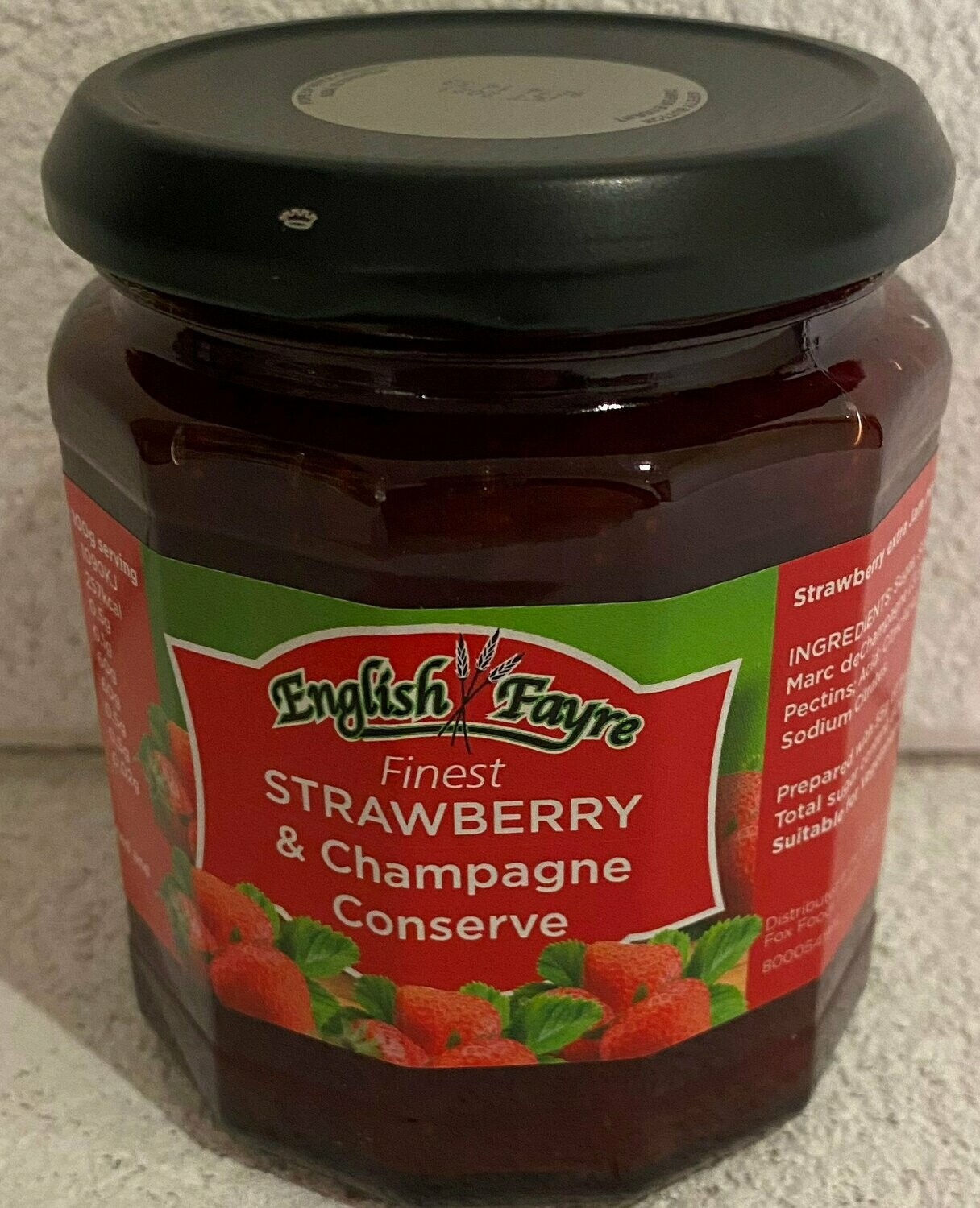 English Fayre Strawberry & Champagne Conserve 340g