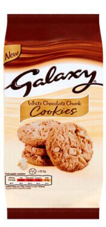 Galaxy White Chocolate chunk Cookies 180g
