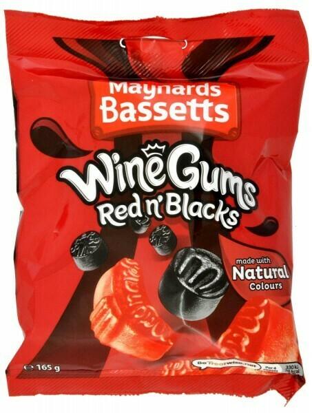 Maynards Bassetts Red n' Blacks 165g