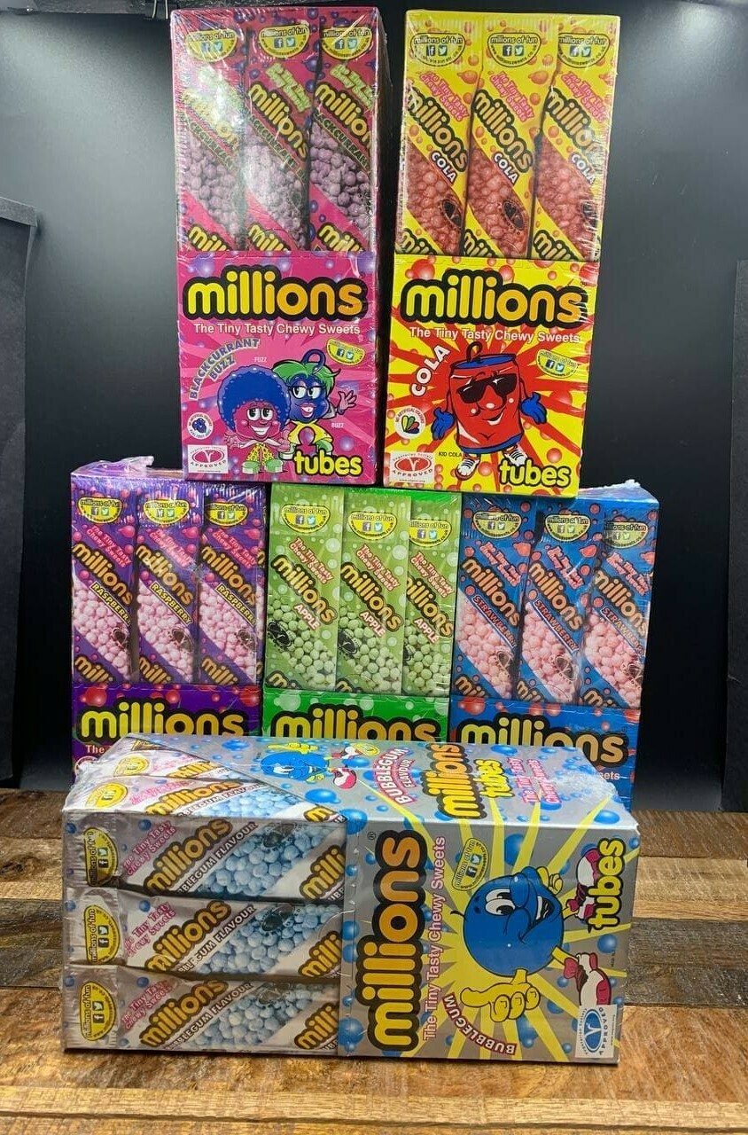 Millions Raspberry Tubes 60g