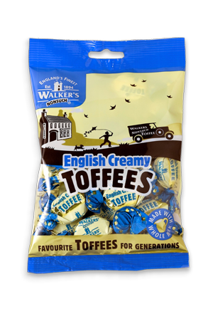 Walkers English Creamy Toffee 150g