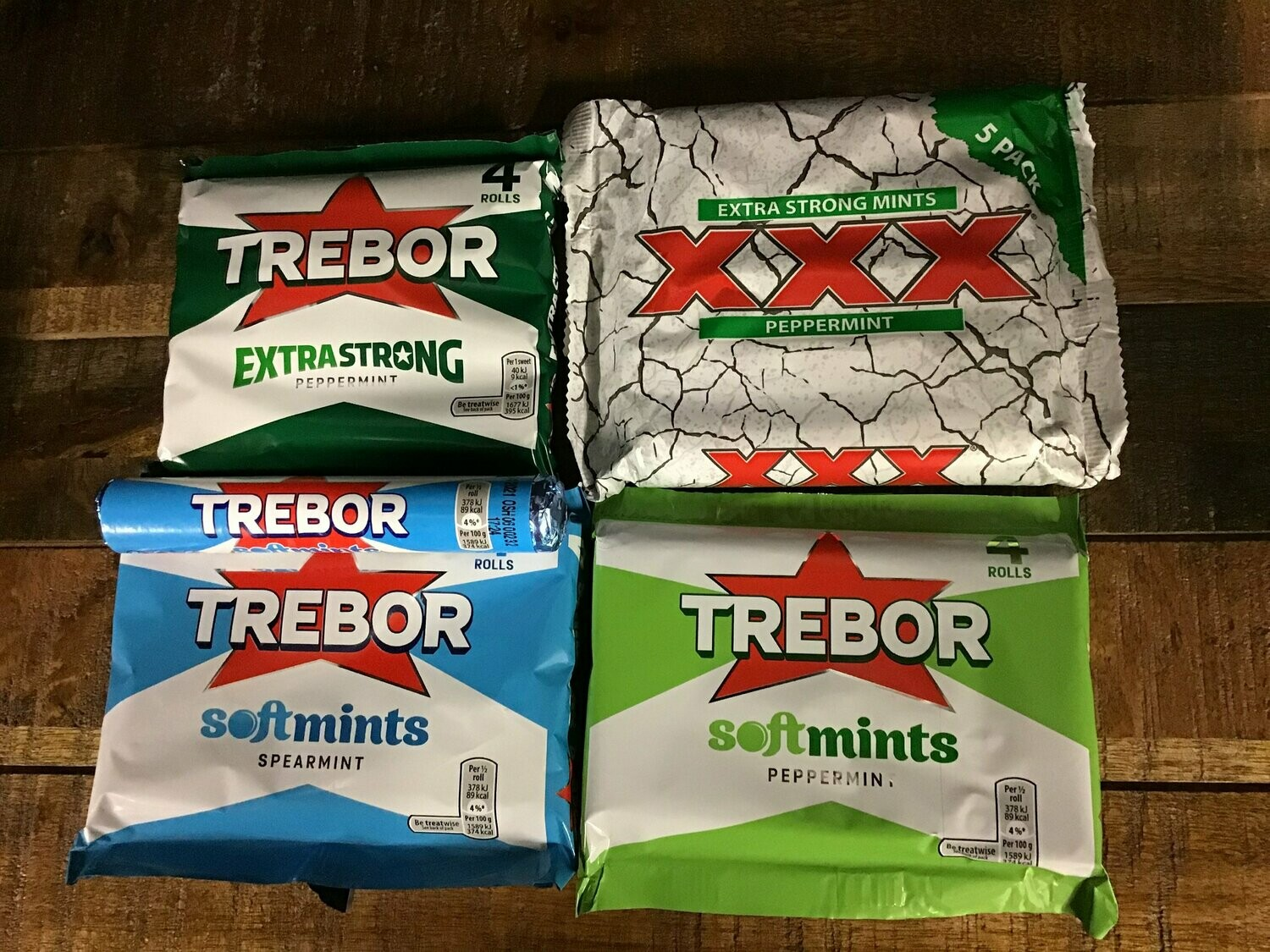 Seriously Strong XXX Extra Strong Mints Peppermint 5 Pack 202.5g