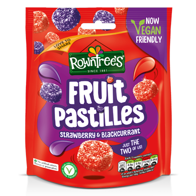 Rowntree Fruit Pastilles Strawberry & Blackcurrant 150g