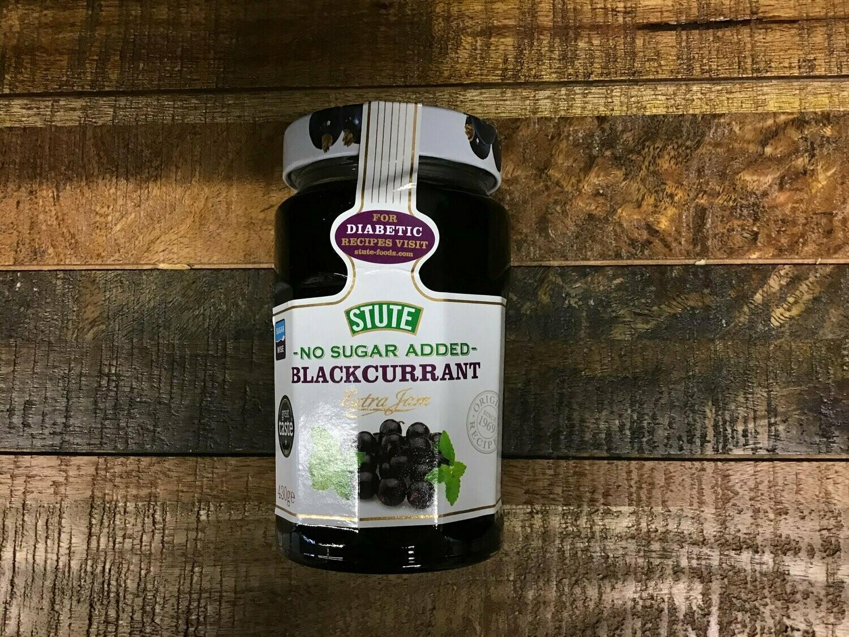 Stute No Sugar Added Blackcurrant Extra Jam 430g