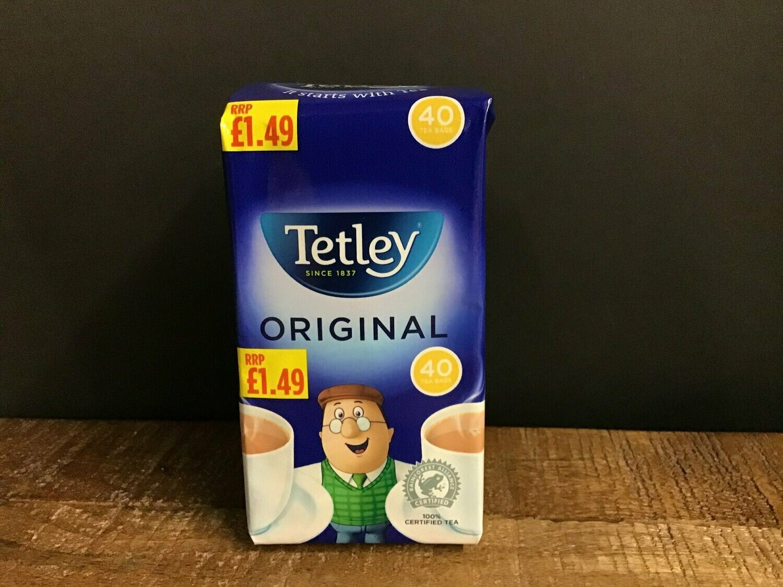 Tetley Original 40 Bags 125g