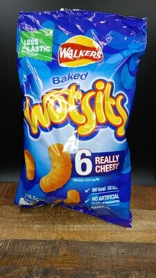Walkers Baked Wotsits Really Cheesy 6 Pack 99g