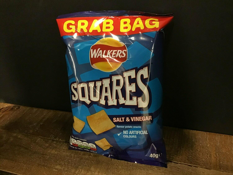 Walkers Squares Salt & Vinegar 27.5g