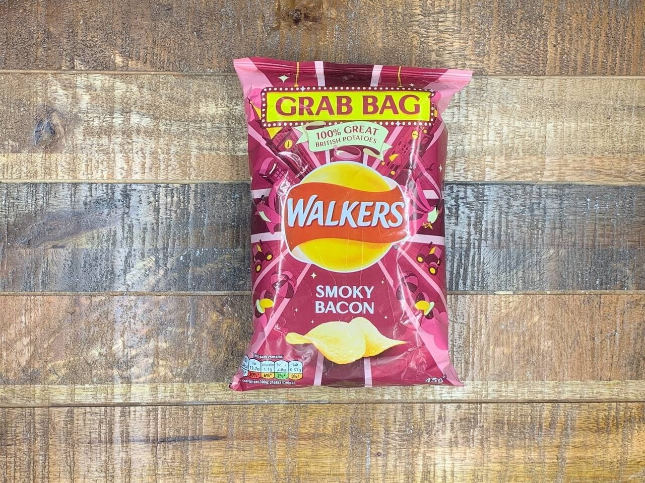 Walkers Smoky Bacon 45g