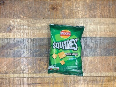 Walkers Squares Cheese & Onion 27.5g