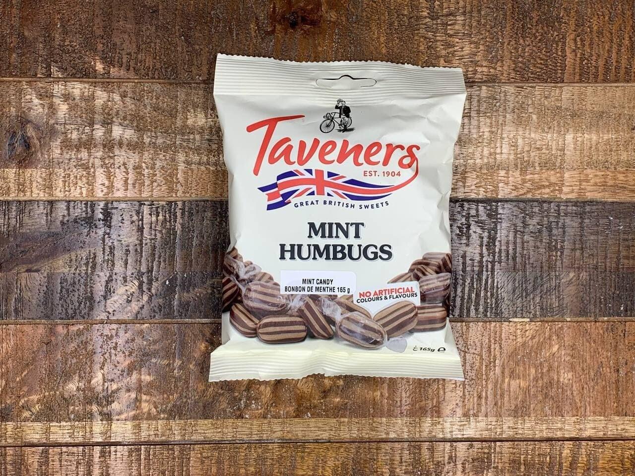 Taveners Mint Humbugs 165g