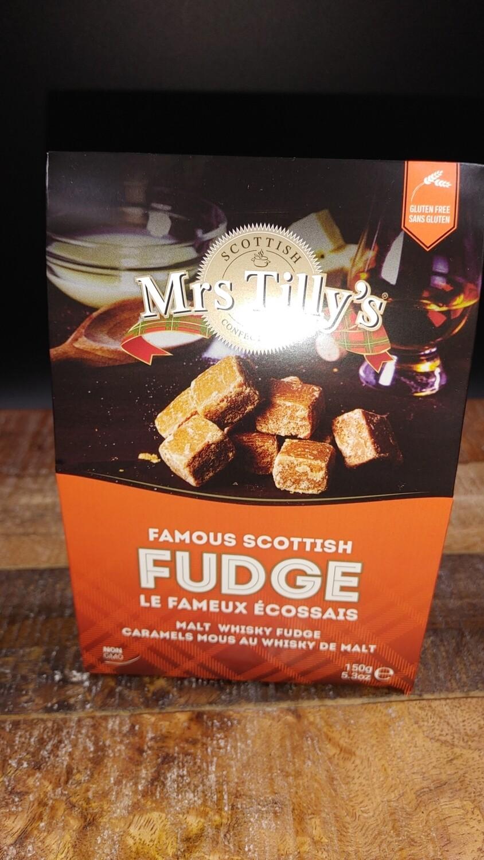Mrs Tillys Malt Whisky Fudge 150g