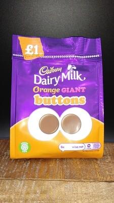 Cadbury Dairy Milk Orange Giant Buttons 95g