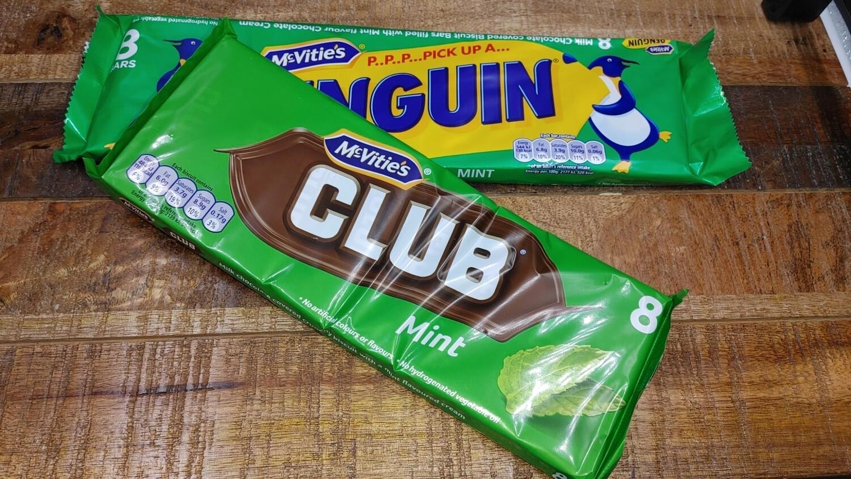 Mcvities Club Mint 8 Pack  8x22g