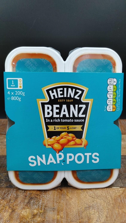 Heinz Beanz Snap Pots 4x200g