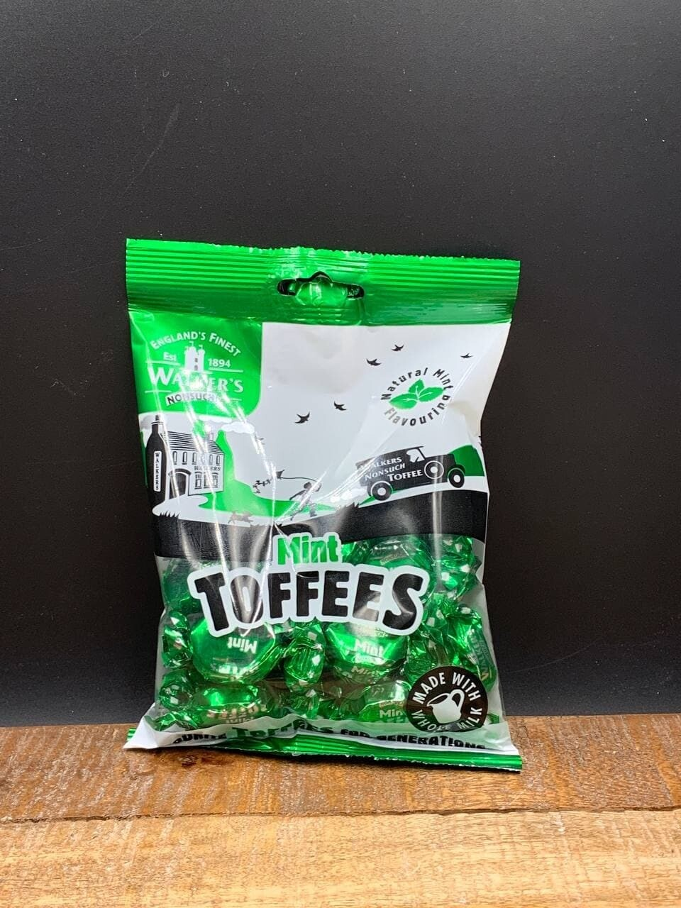 Walkers Mint Toffees 150g