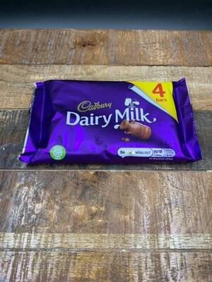 Cadbury Dairy Milk 4 Pack 117.2g