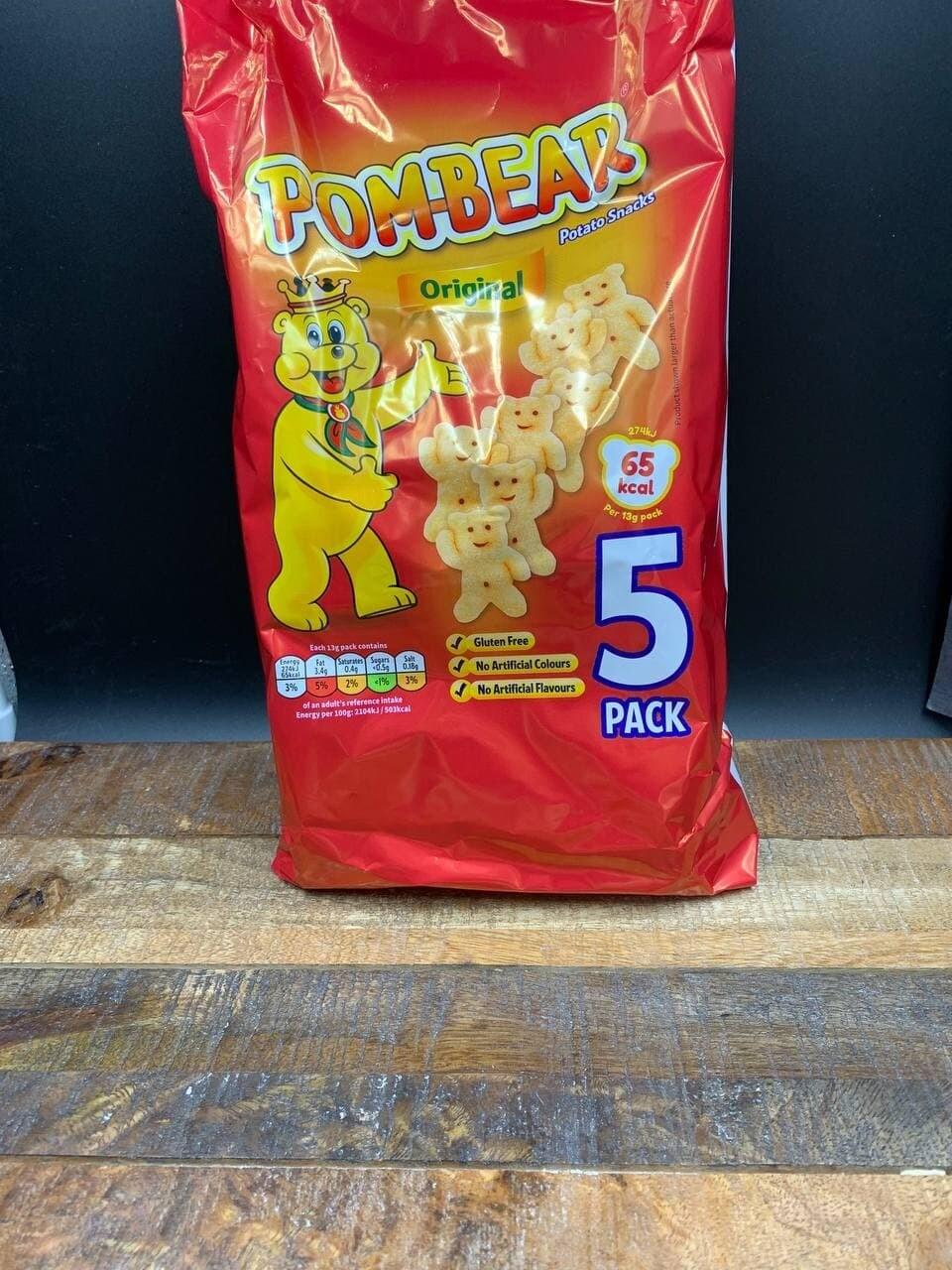 Pom-Bear Original Potato Snacks 5 Pack