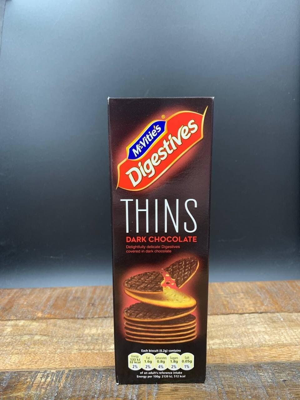 McVities Digestives Thins Dark Chocolate 180g