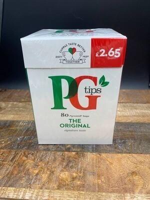 PG Tips Original 80 Pyramid Bags 232g