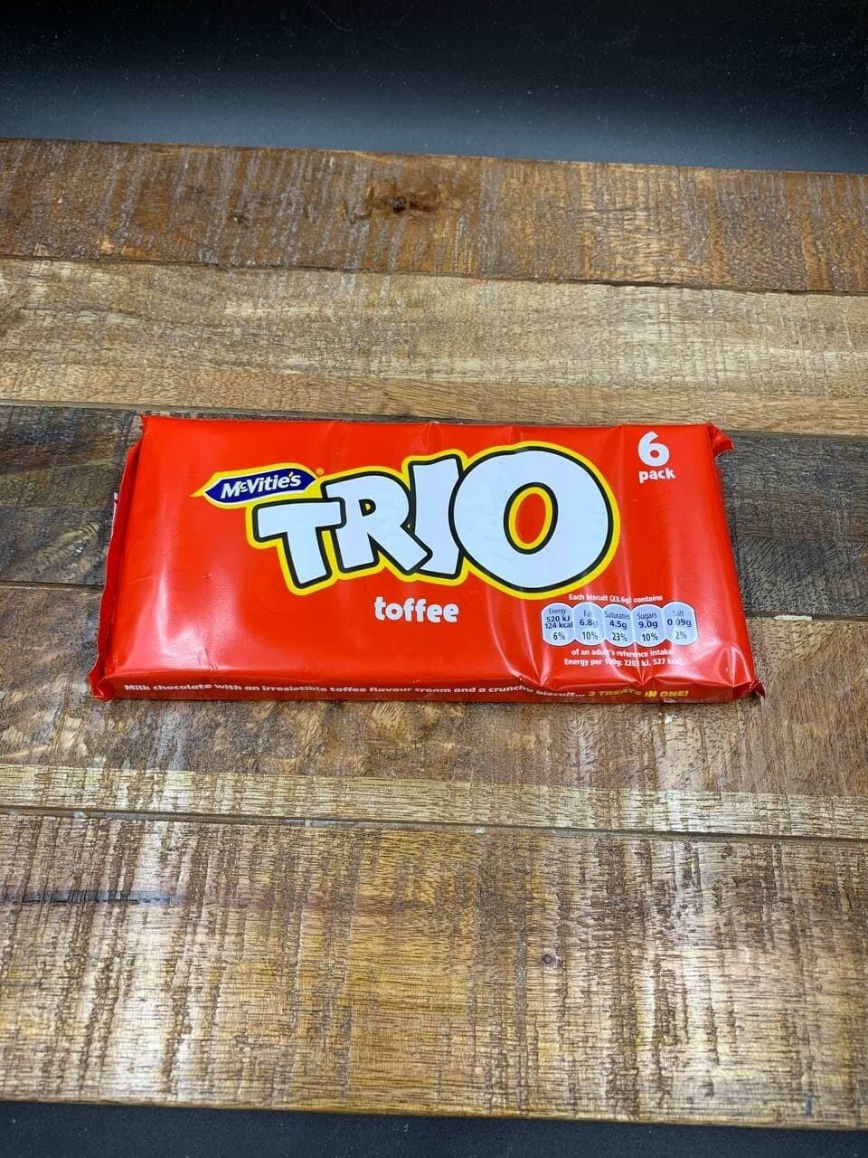 McVities Trio Toffee 6 Pack 138g