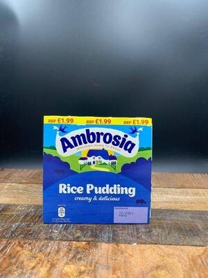 Ambrosia Creamy Rice Pudding Pots 4x125g