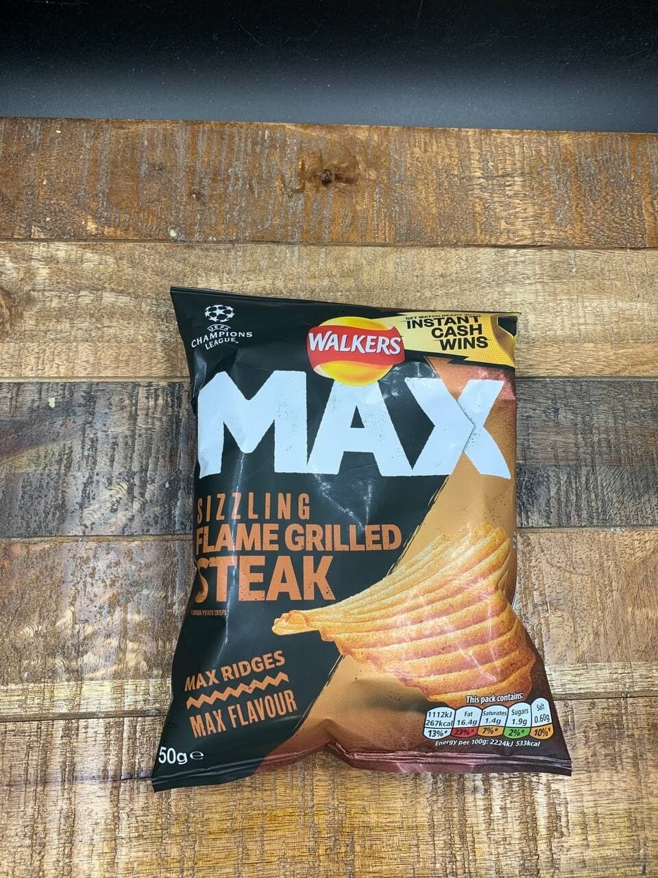 Walkers Max Flame Grilled Steak 50g