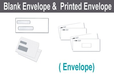 Blank & Printed Envelope