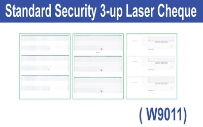 Standard Security 3-up Laser Cheque